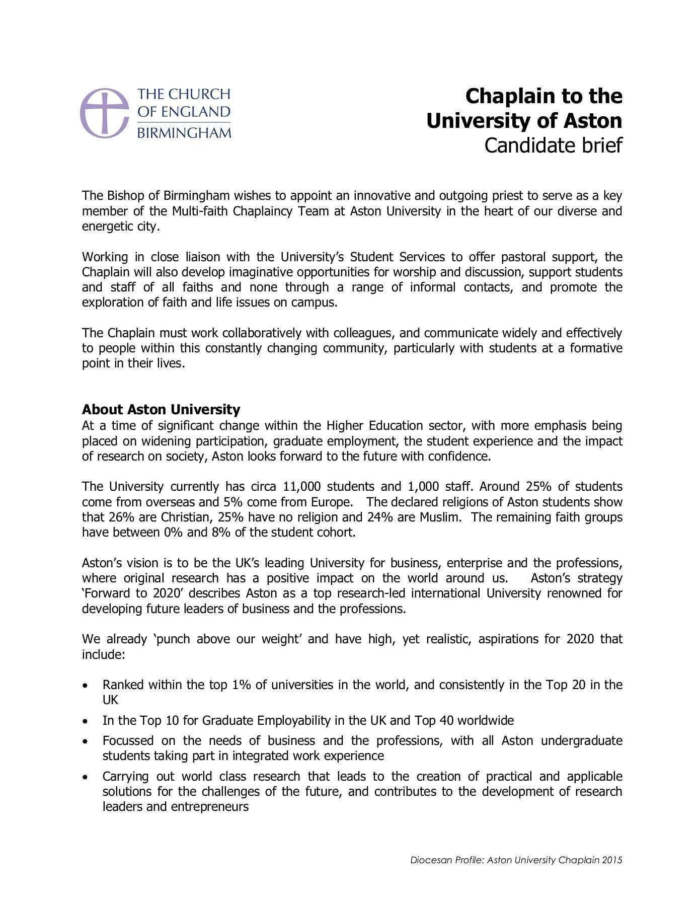 15 New Aston University 2020 Strategy Redesign and Concept with Aston University 2020 Strategy
