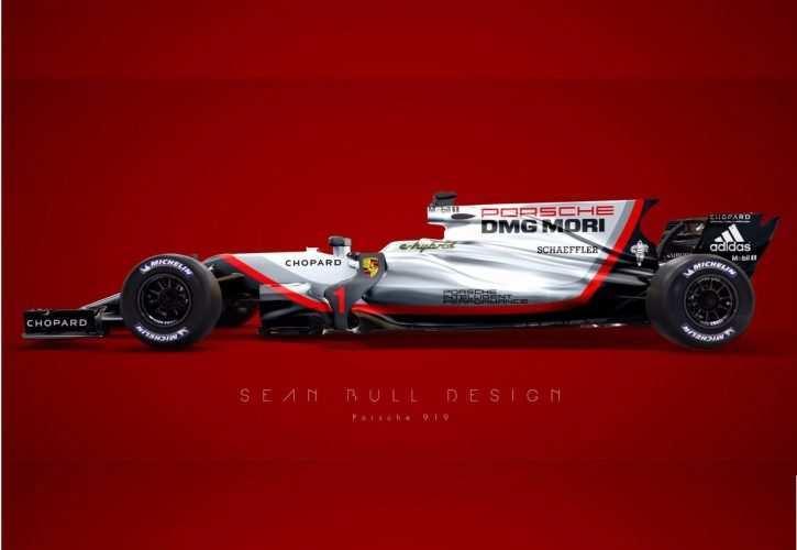 34 Concept of Porsche F1 2020 Concept with Porsche F1 2020