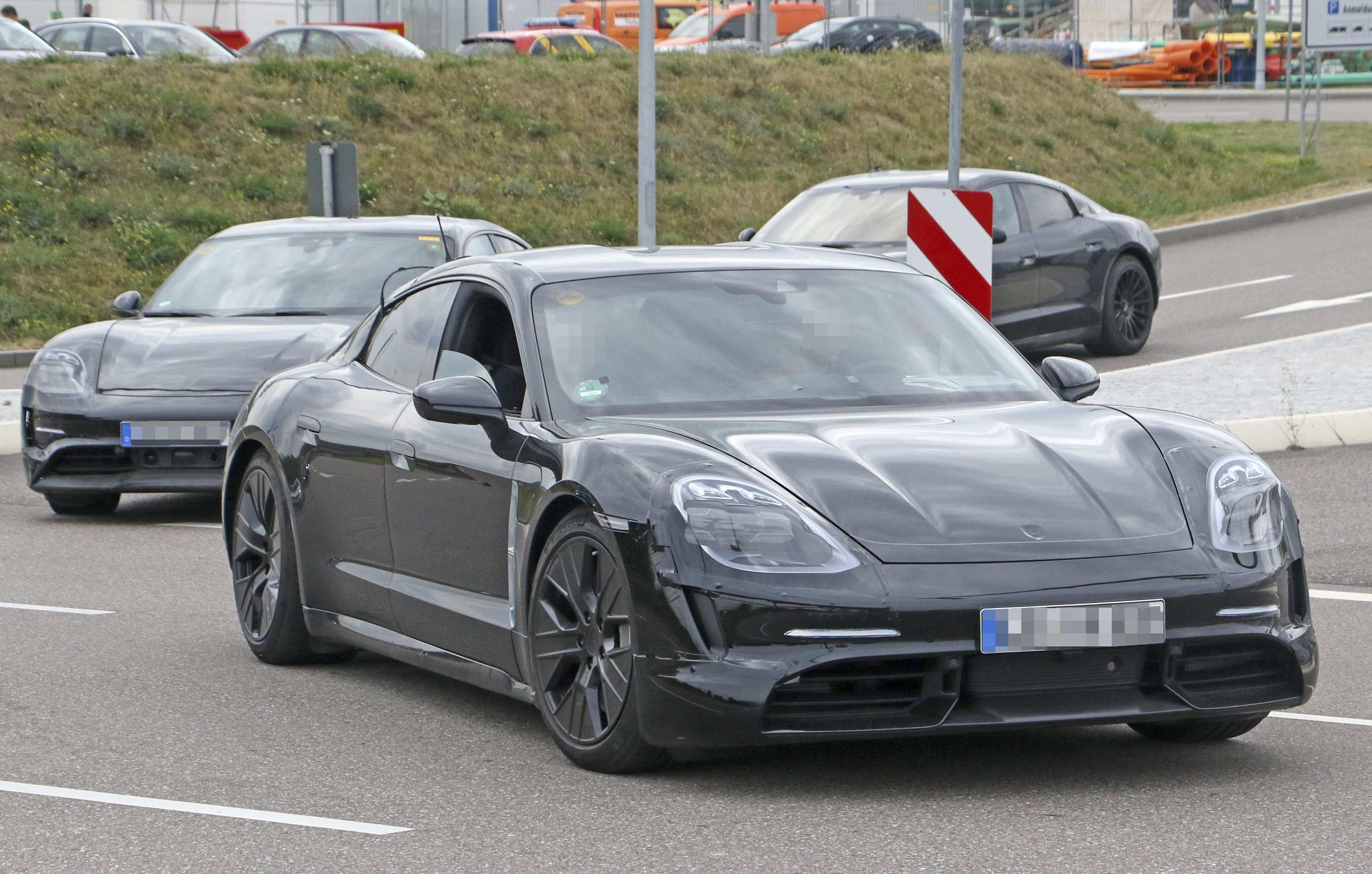 38 The 2020 Porsche Mission E Electric Sedan Spied Testing Alongside Teslas Ratings with 2020 Porsche Mission E Electric Sedan Spied Testing Alongside Teslas