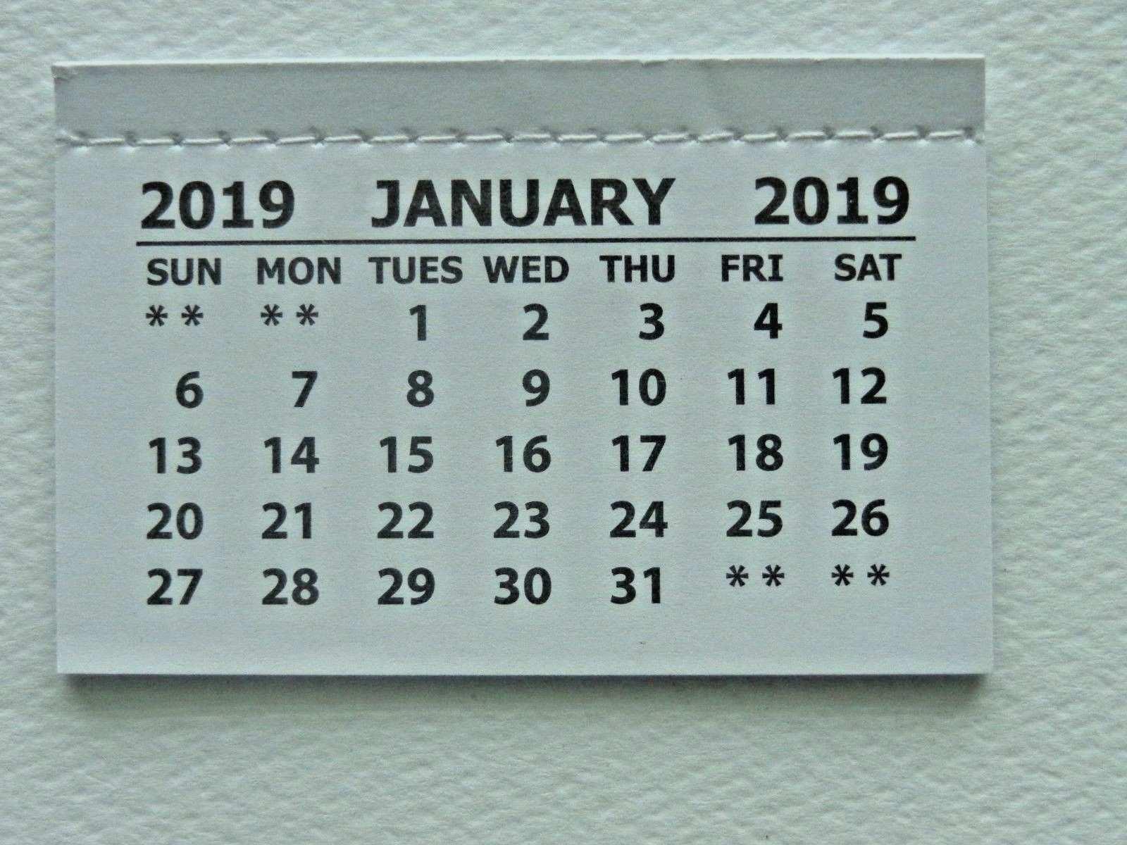 48 Best Review 2019 Mini Tear Off Calendar Concept with 2019 Mini Tear Off Calendar