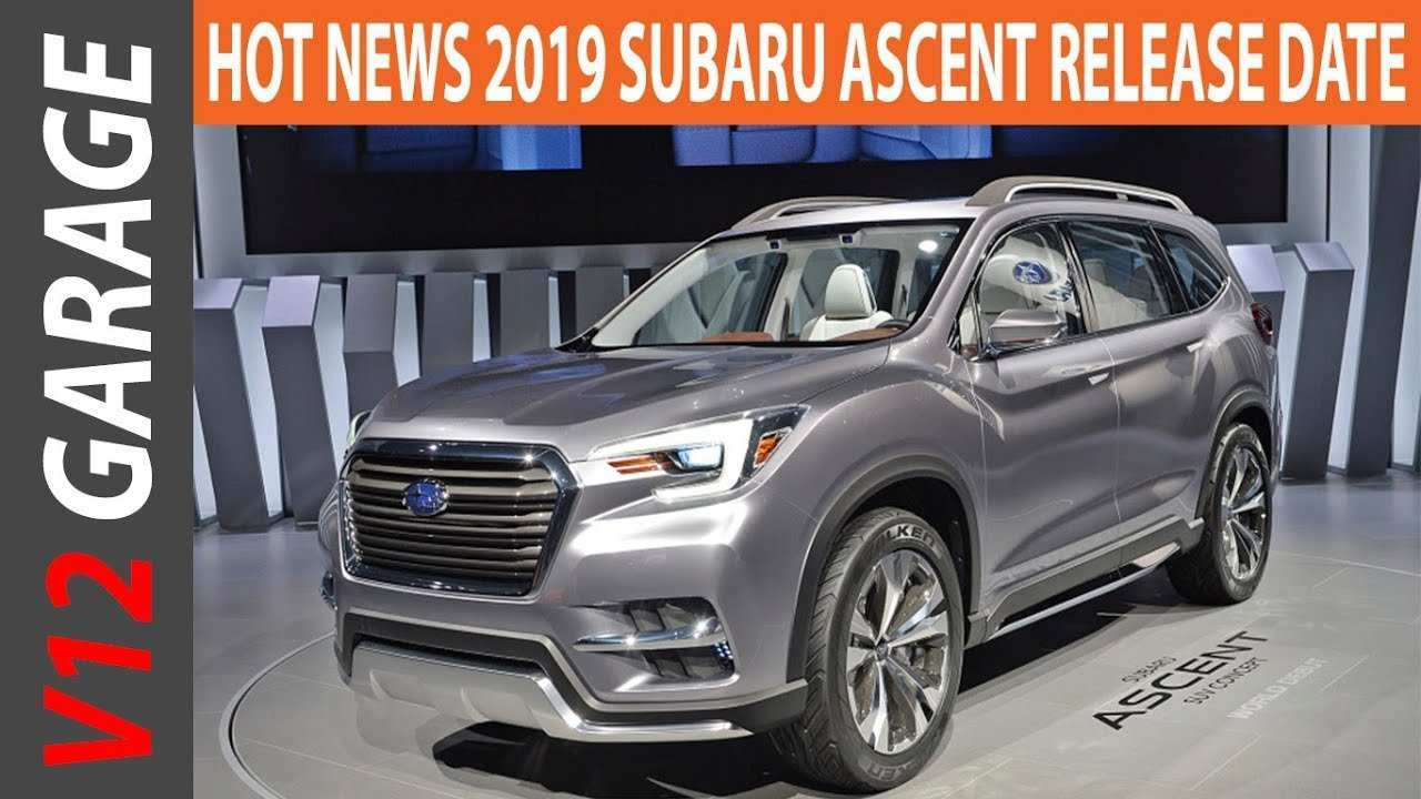 50 Best Review 2019 Subaru Ascent Release Date Spy Shoot by 2019 Subaru Ascent Release Date