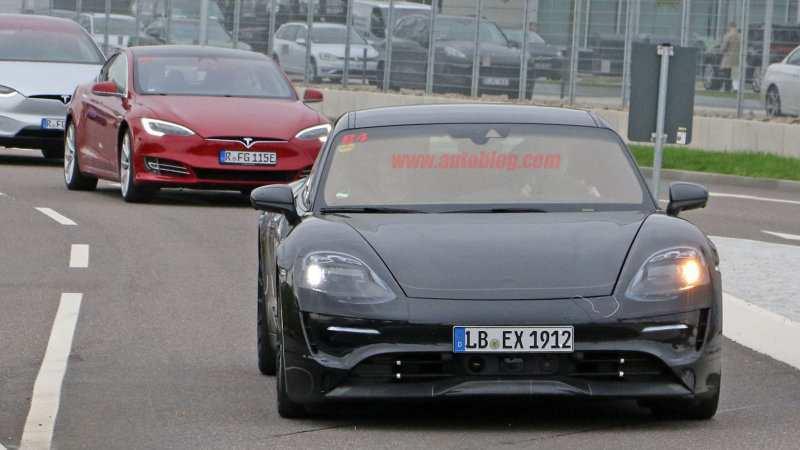 64 Gallery of 2020 Porsche Mission E Electric Sedan Spied Testing Alongside Teslas Redesign by 2020 Porsche Mission E Electric Sedan Spied Testing Alongside Teslas
