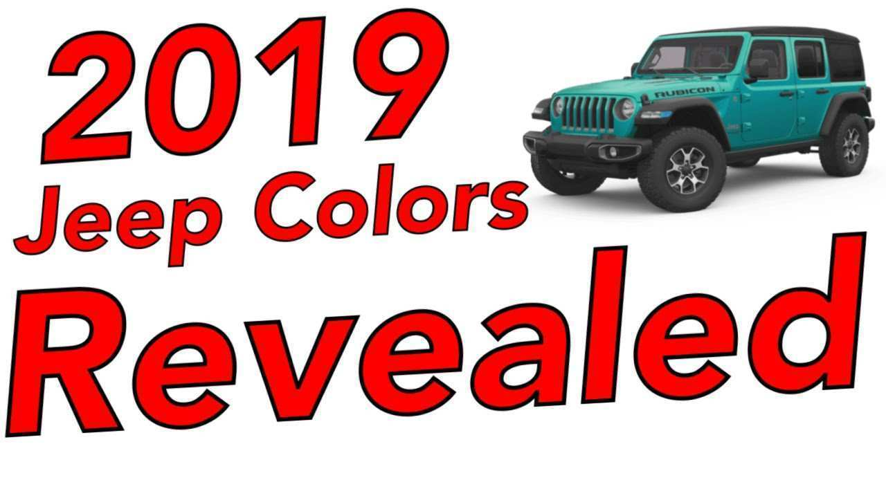 65 Great 2019 Jeep Exterior Colors Redesign with 2019 Jeep Exterior Colors