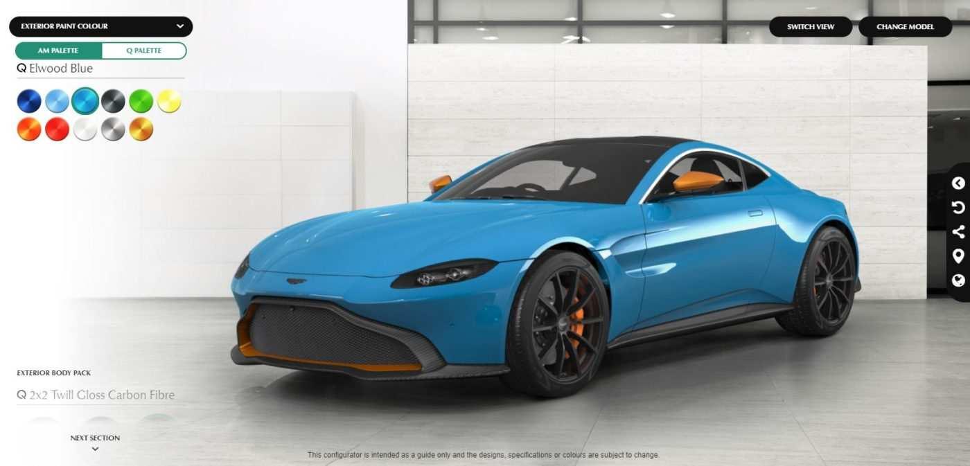 68 New 2019 Aston Martin Vantage Configurator Price and Review for 2019 Aston Martin Vantage Configurator