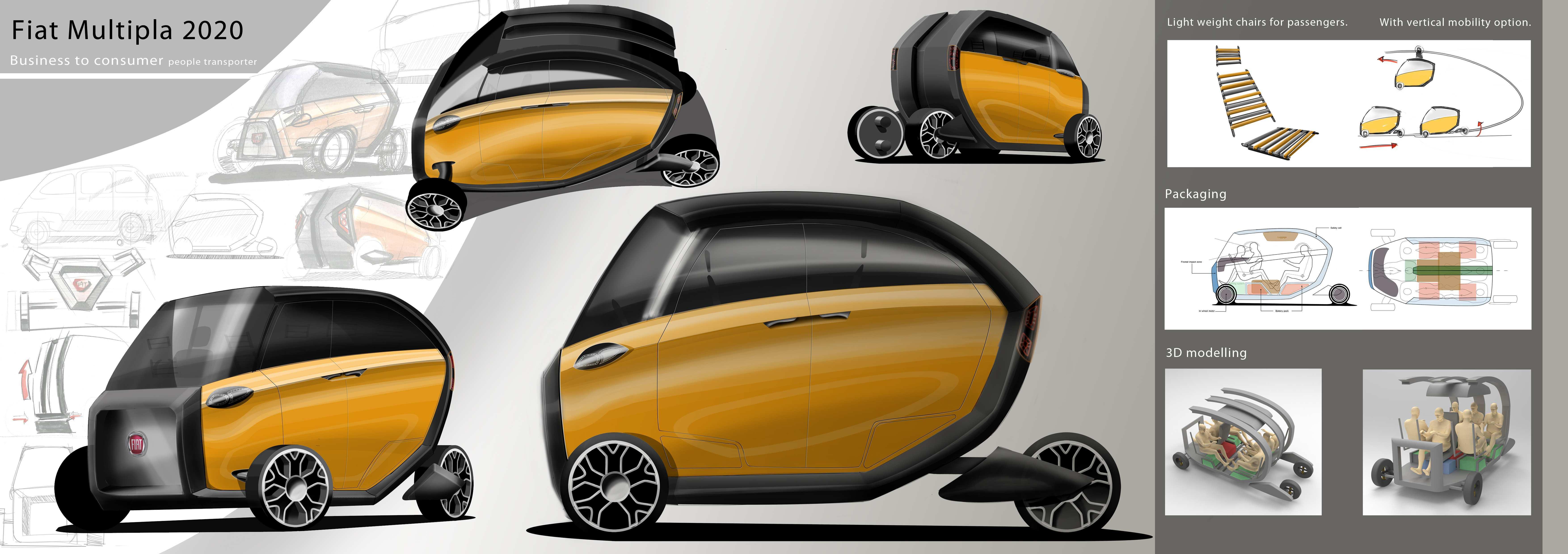 84 All New Fiat Multipla 2020 Spy Shoot for Fiat Multipla 2020