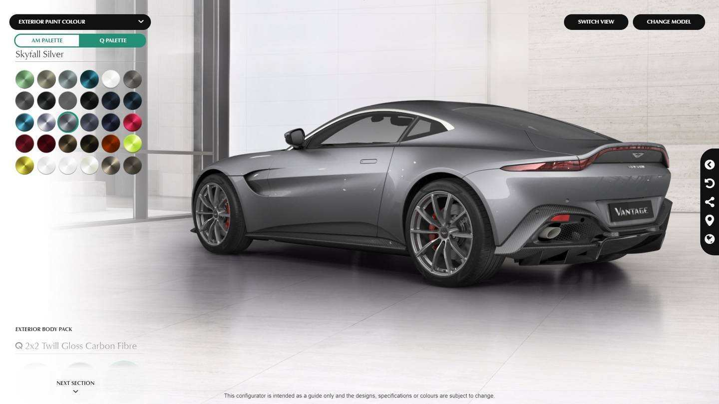 85 Great 2019 Aston Martin Vantage Configurator Speed Test with 2019 Aston Martin Vantage Configurator