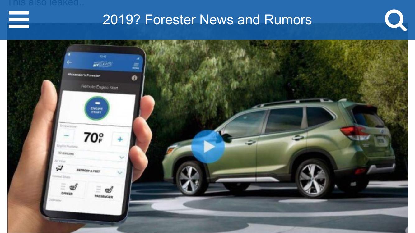 12 All New Next Generation Subaru Forester 2019 Performance by Next Generation Subaru Forester 2019