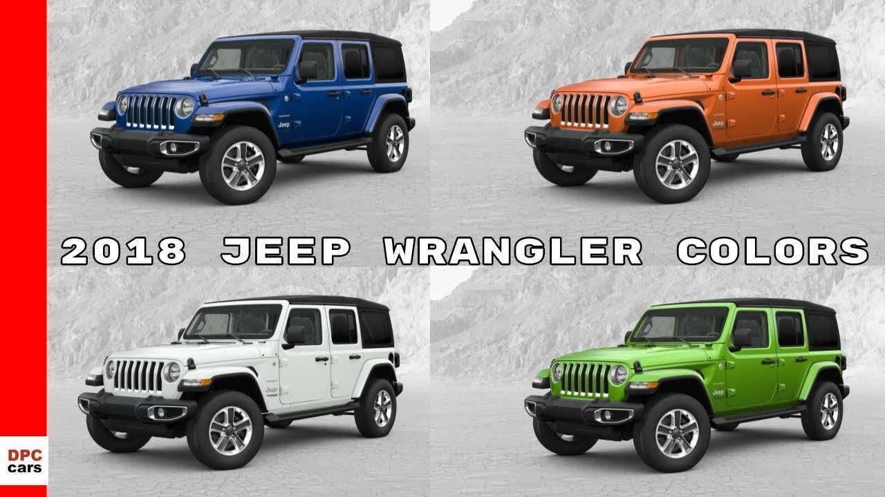 13 New 2019 Jeep Jl Colors Style by 2019 Jeep Jl Colors