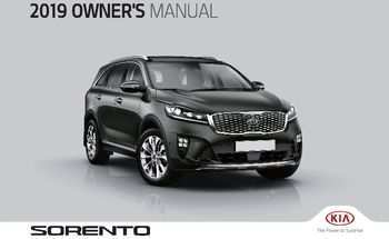 96 Great 2019 Kia Sorento Owners Manual Release by 2019 Kia Sorento Owners Manual