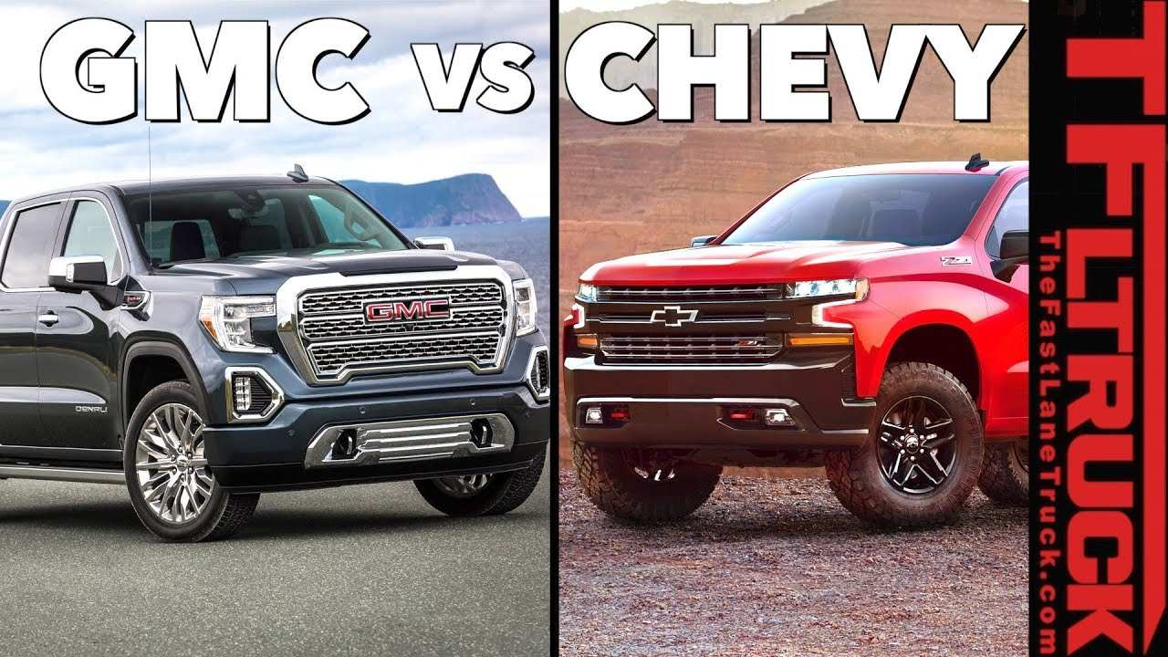 87 The New 2019 Gmc Sierra Vs Silverado Review Specs And Release Date Exterior for New 2019 Gmc Sierra Vs Silverado Review Specs And Release Date