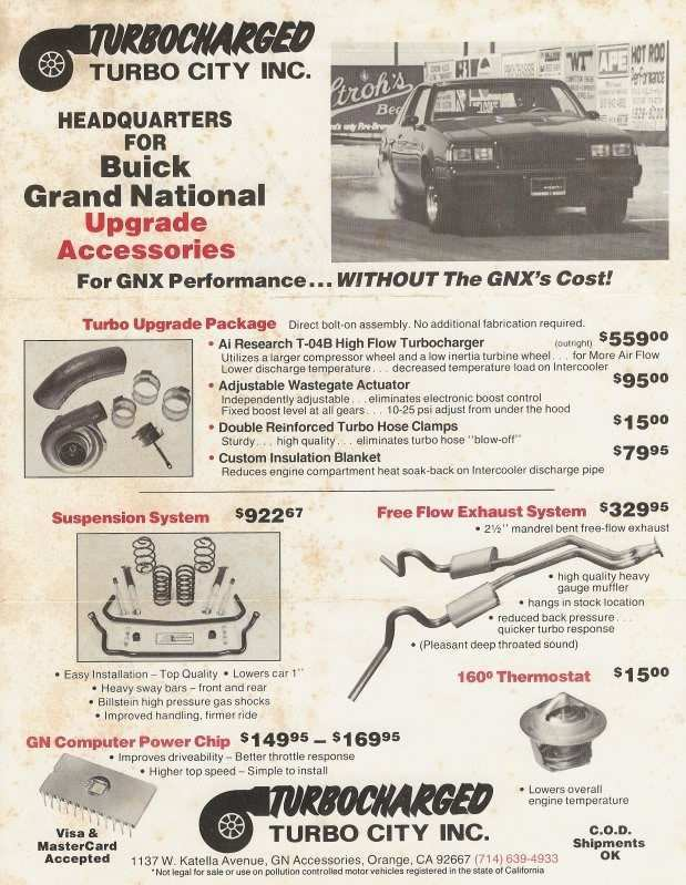 64 The Grand National Gnx Specs History with Grand National Gnx Specs