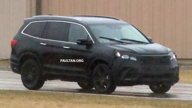 95 All New 2018 Honda Pilot Spy Photos Exterior and Interior by 2018 Honda Pilot Spy Photos