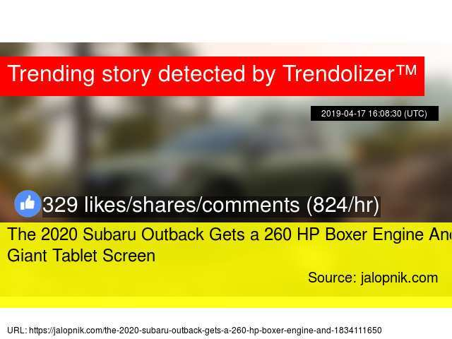 75 Best Review 2020 Subaru Outback Jalopnik Configurations with 2020 Subaru Outback Jalopnik