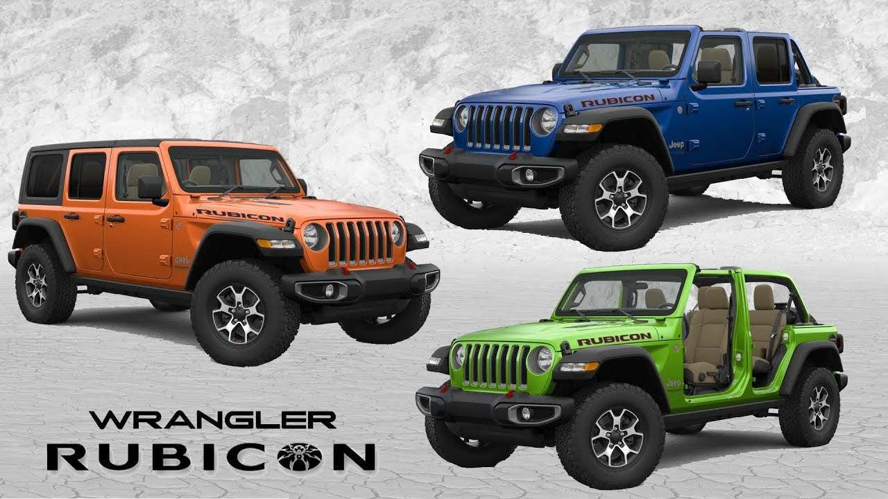 95 New Jeep Wrangler 2020 Colors Performance by Jeep Wrangler 2020 Colors