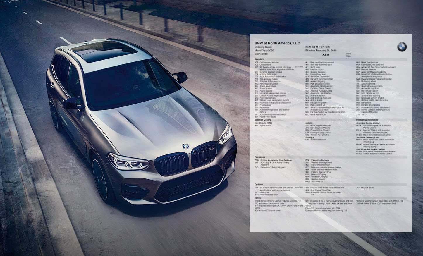97 The 2020 BMW X3M Ordering Guide Prices for 2020 BMW X3M Ordering Guide