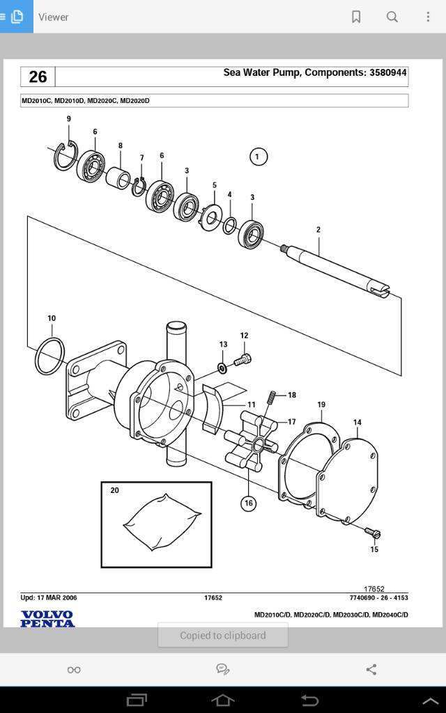 98 Concept of Volvo Penta 2020 Water Pump Images for Volvo Penta 2020 Water Pump