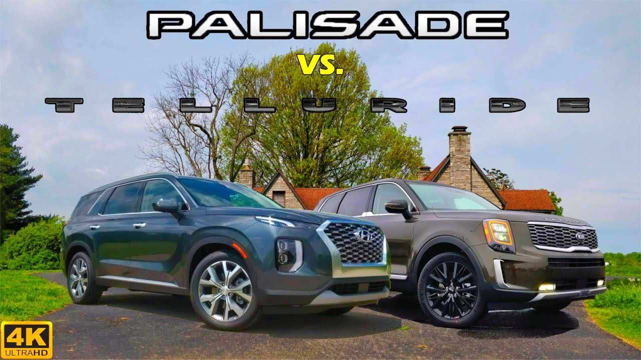 40 Great 2020 Hyundai Palisade Vs Kia Telluride Exterior and Interior for 2020 Hyundai Palisade Vs Kia Telluride