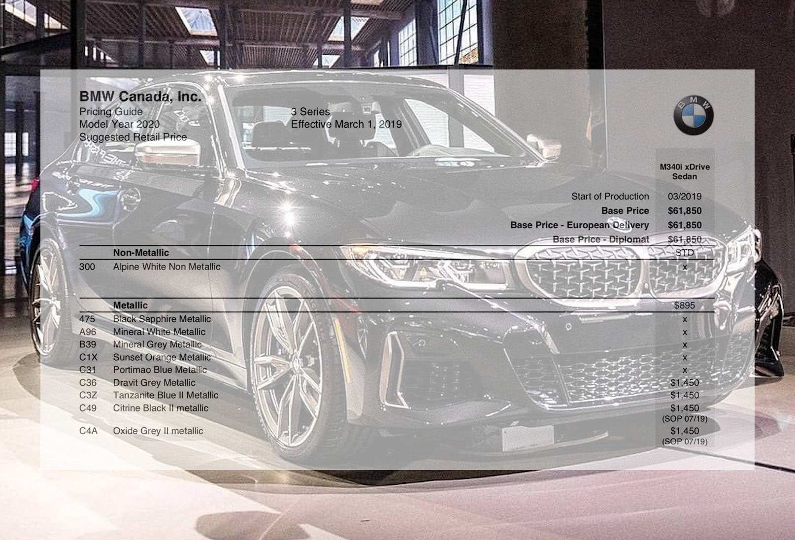 49 Gallery of 2020 Bmw Ordering Guide Configurations with 2020 Bmw Ordering Guide