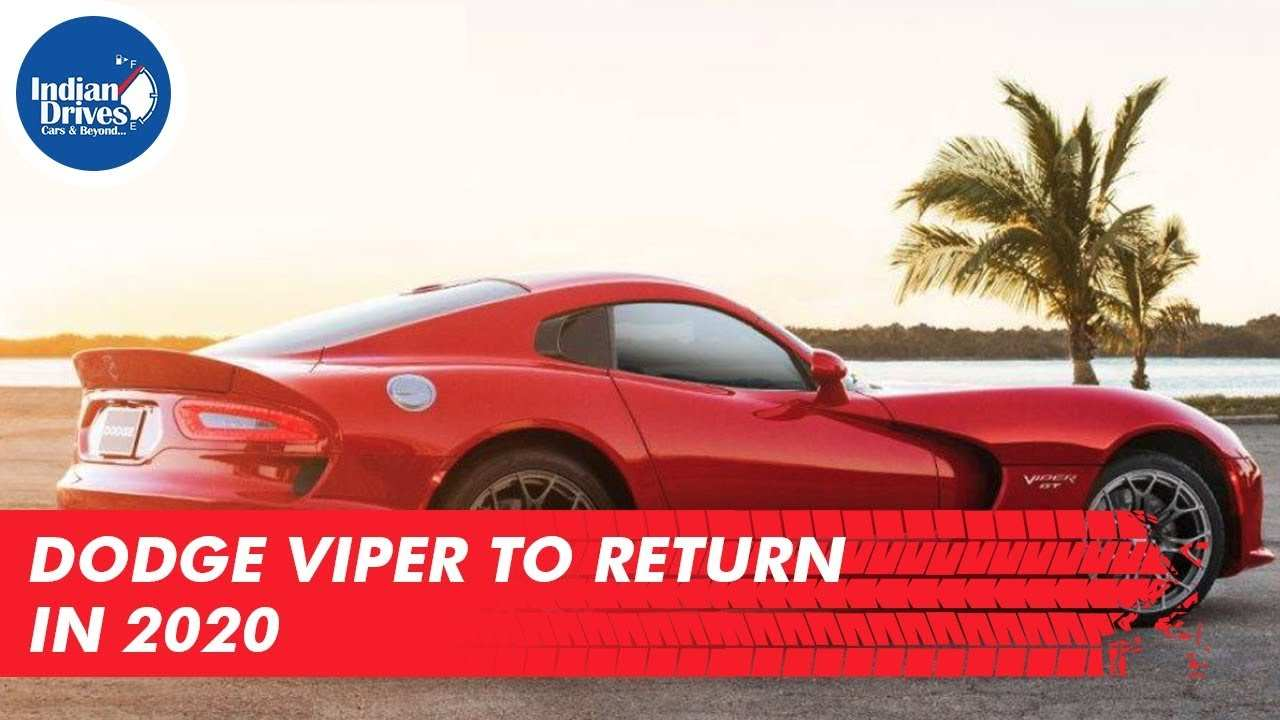 80 Great 2020 Dodge Viper Youtube Redesign and Concept with 2020 Dodge Viper Youtube