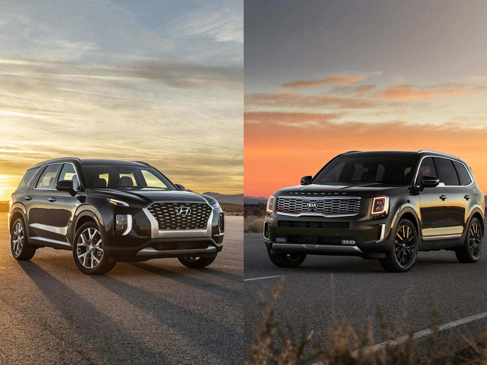 92 The 2020 Hyundai Palisade Vs Kia Telluride Exterior and Interior with 2020 Hyundai Palisade Vs Kia Telluride