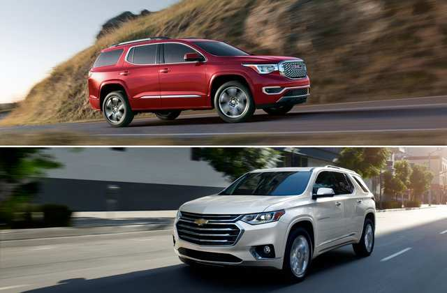 98 All New 2020 Gmc Acadia Vs Chevy Traverse Specs and Review with 2020 Gmc Acadia Vs Chevy Traverse